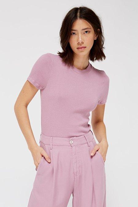 Lacausa Clothing Sweater Rib Tee - Haze