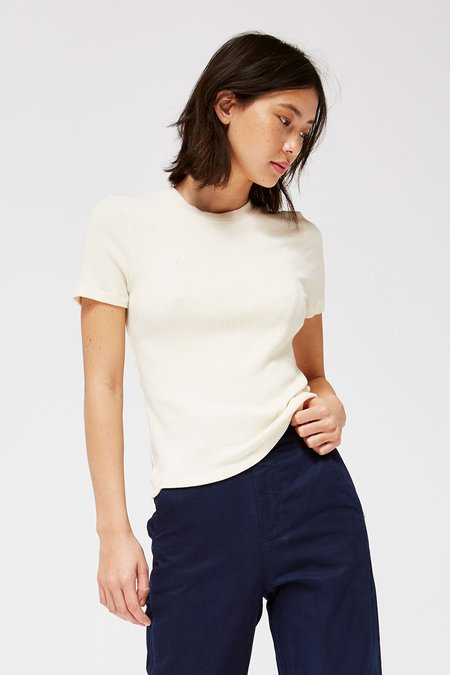 Lacausa Clothing Sweater Rib Tee - Parchment