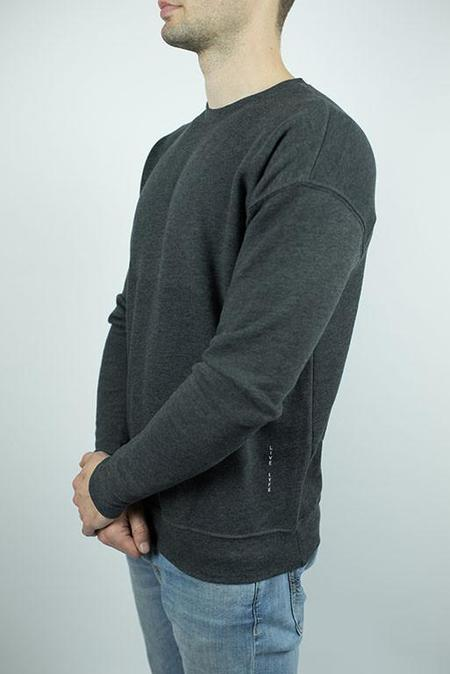Craft of Lyfe The Reservoir Drop Shoulder Fleece Sweater in Dark Grey