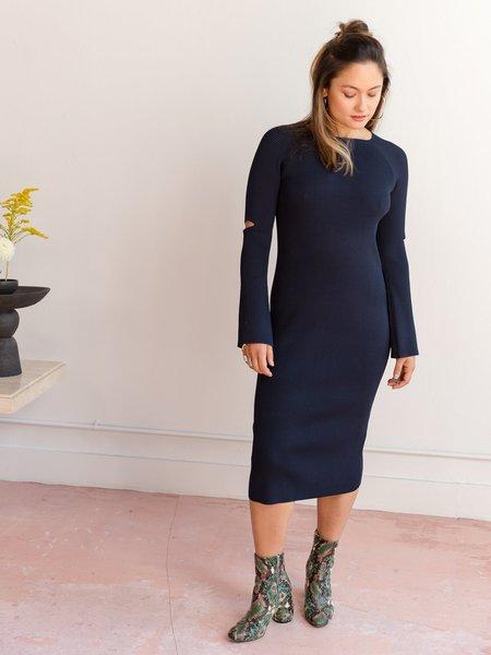 Nomia Slit Sleeve Midi Dress
