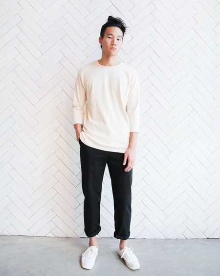 Esby 3/4 SLEEVE LIFETIME CREW - NATURAL