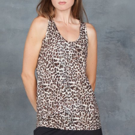 Majestic Jaguar Printed Scoop Neck Tank
