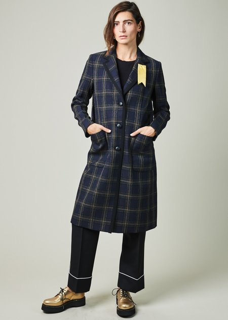 The Gigi Marta Plaid Overcoat
