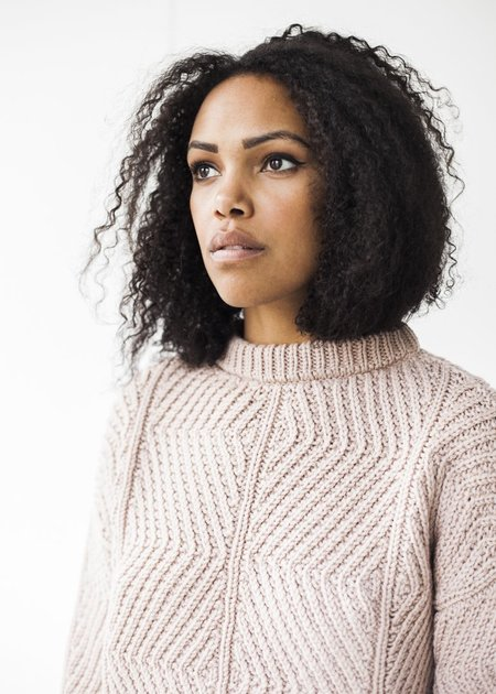 Micaela Greg Bevel Sweater in Blush