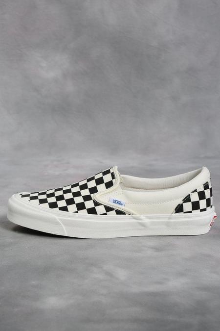 Vans Vault Black & White Checkerboard OG Classic LX Slip-On