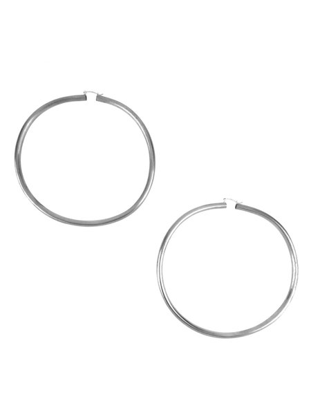 IGWT Rollo Hoop Earrings - Silver