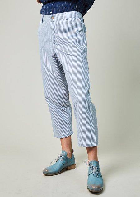 Domi Striped Cotton Trousers