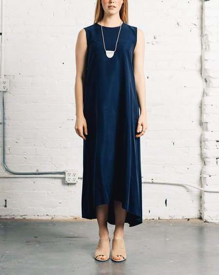 Kaarem Turn Sleeveless Maxi Dress - Space Blue