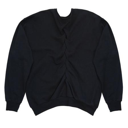 Slow and Steady Wins the Race Smocked Sweatshirt - Black