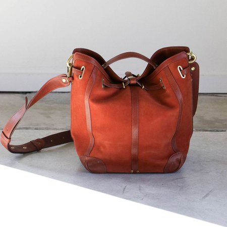 Jerome Dreyfuss Tanguy Bag in Nubuck Rouille