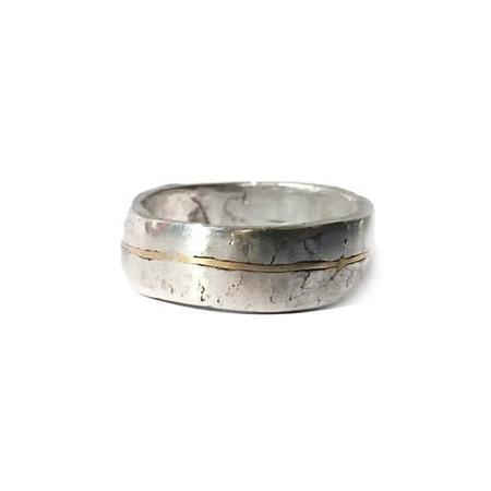 Aris Schwabe Silver n Gold Ring