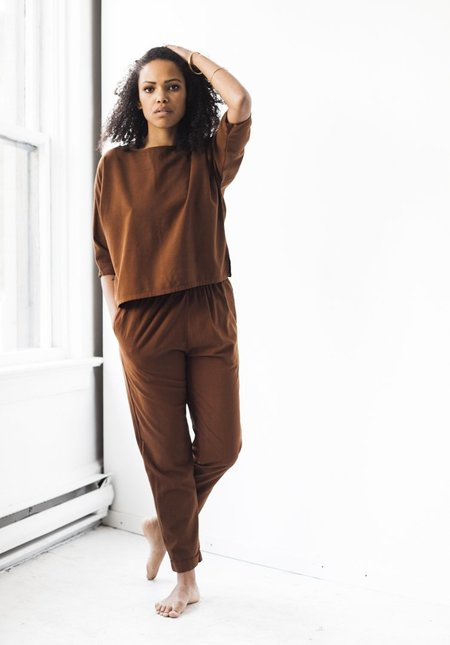 Me & Arrow Cuff Pant in Canyon Brown
