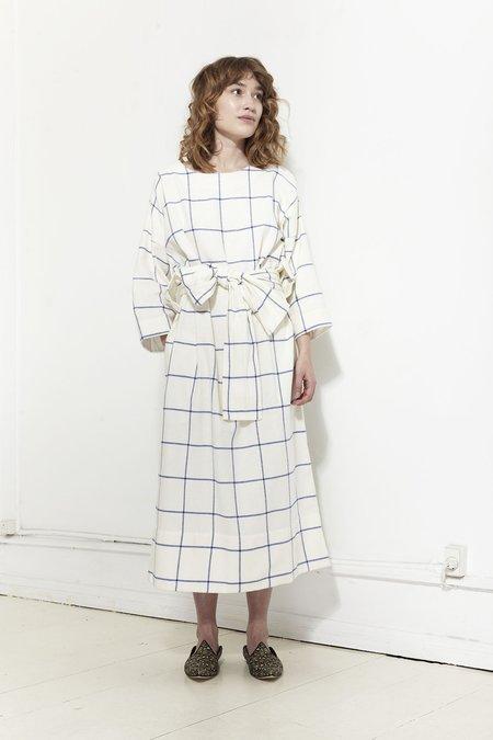 Mr. Larkin Maker Dress in Flannel - Windowpane