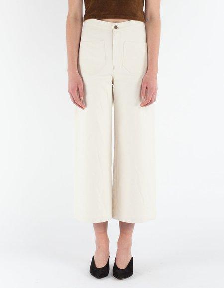 Lykke Wullf Sandi Pant - Cream Canvas