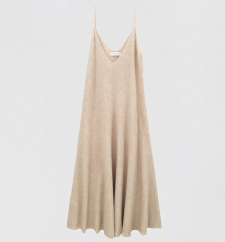 Ryan Roche Ribbed Circle Dress - Bisque