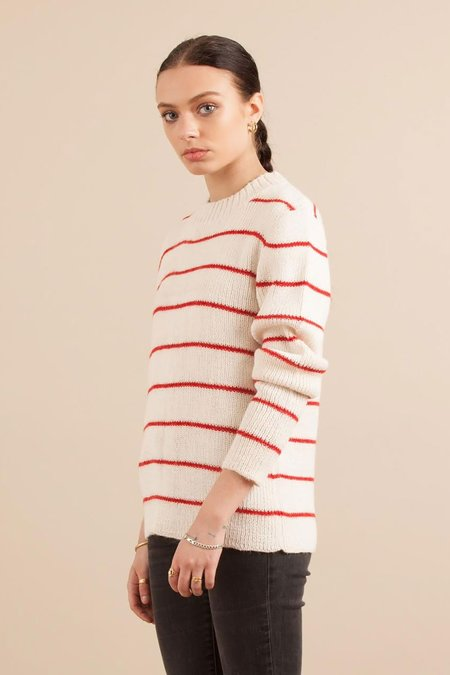 Solosix Knitwear Bridget Sweater - Red Stripes