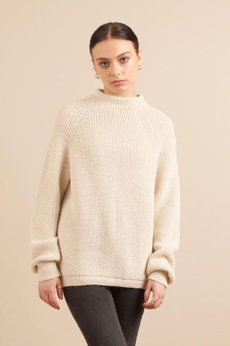Solosix Knitwear Home Crew Sweater - Stone