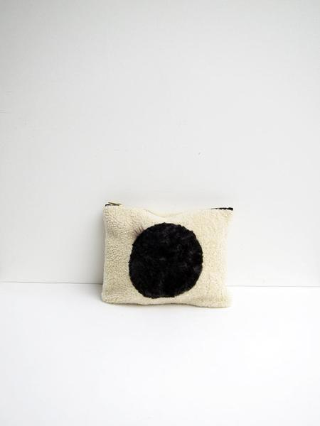 Milena Silvano Moon Circle Clutch - Black