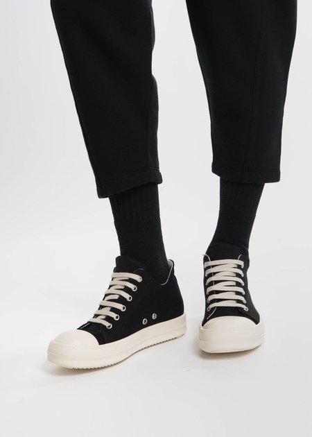 Rick Owens Drkshdw Black Canvas Cap Toe Sneaker