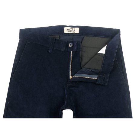 Naked & Famous Slim Chino 2-Way Stretch Corduroy - Navy