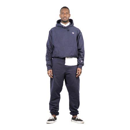 Champion Fleece Pullover C Logo Hood - Navy