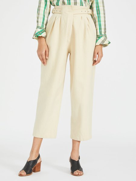 Portia & Manny Vintage Belted Wool Trouser