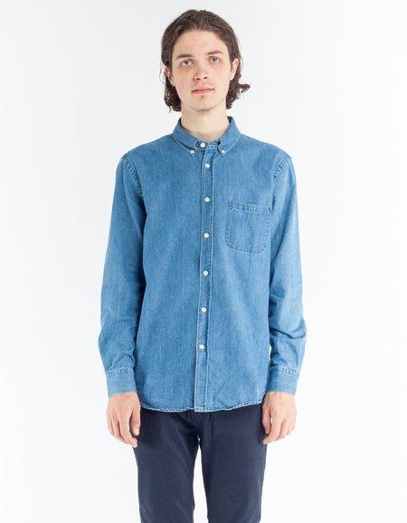 Portuguese Flannel Ganga Shirt - Denim 2 Wash