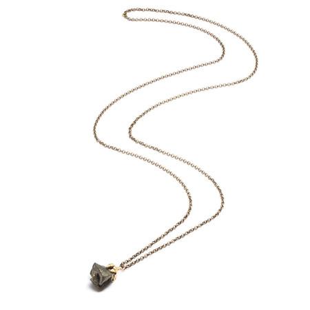 Natalie Frigo Small Claw and Pyrite Necklace