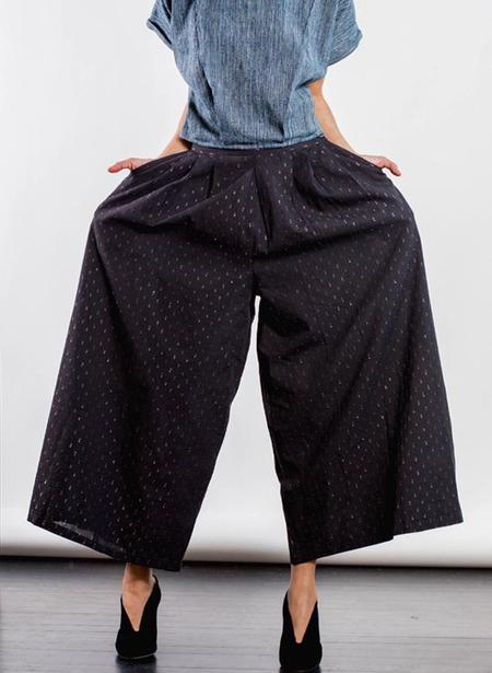 Seek Collective Savista Pant - Black Flicker Weave