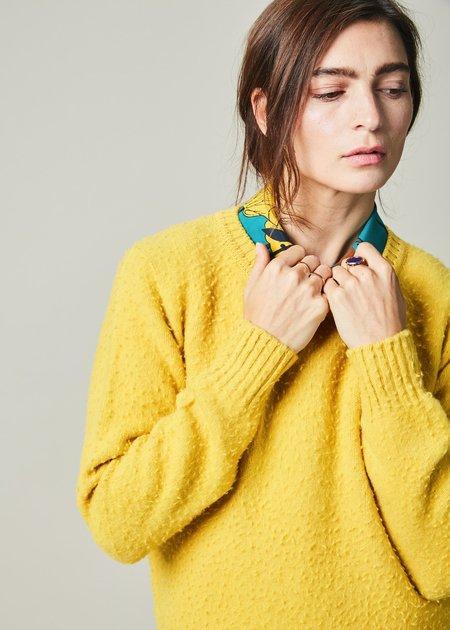 The Gigi Clara Knit Wool Sweater - Mustard