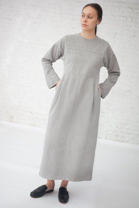 Cosmic Wonder Sashiko Embroidery Dress in Light Sumikuro