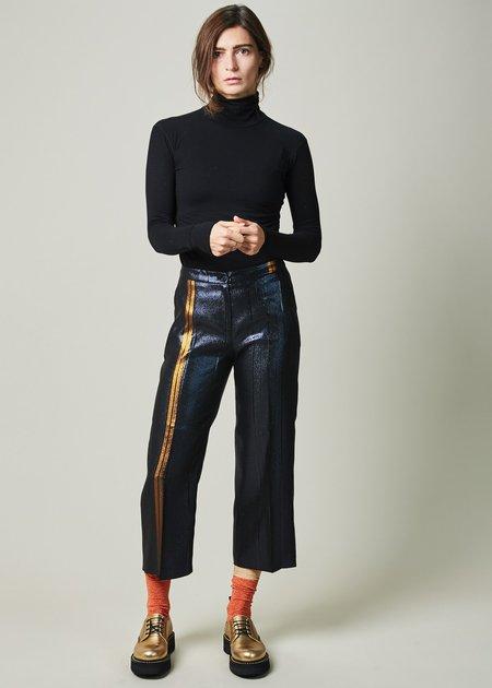 Laura Urbinati Striped Shiny Culotte