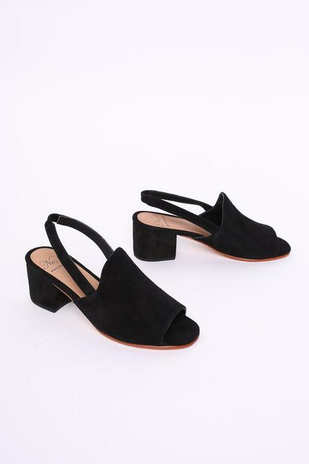 No.6 Linda Covered Heel in Black Suede