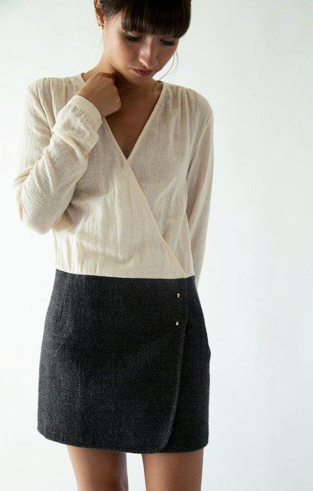 Sunday Supply Co. Florence Dress - Cream/charcoal