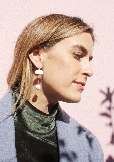 Jujumade Pin Earrings - white