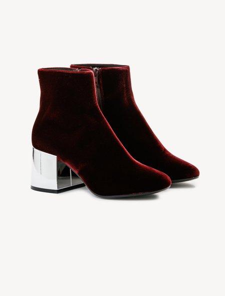 MM6 by Maison Margiela Ruby Velvet Ankle Boots