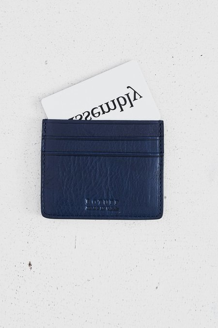 Lotuff Leather Five-Pocket Credit Card Wallet - Indigo