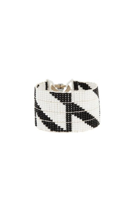Sidai Designs Rhombus Warrior Bracelet - White/Black