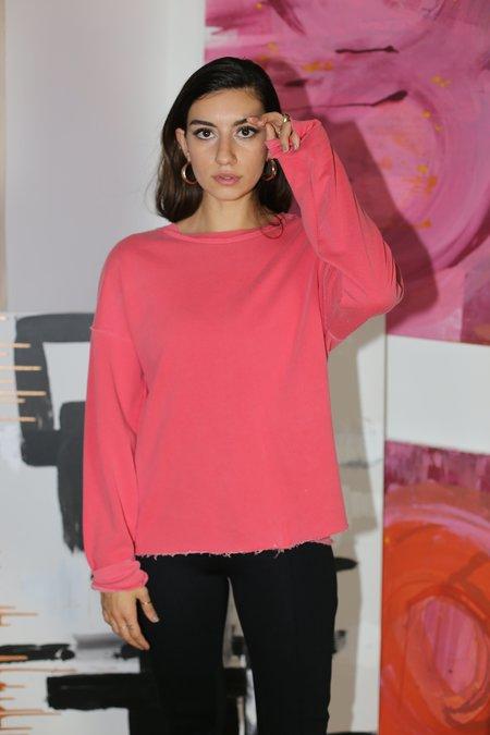 Stateside Hi-Low Sweatshirt in Scarlet