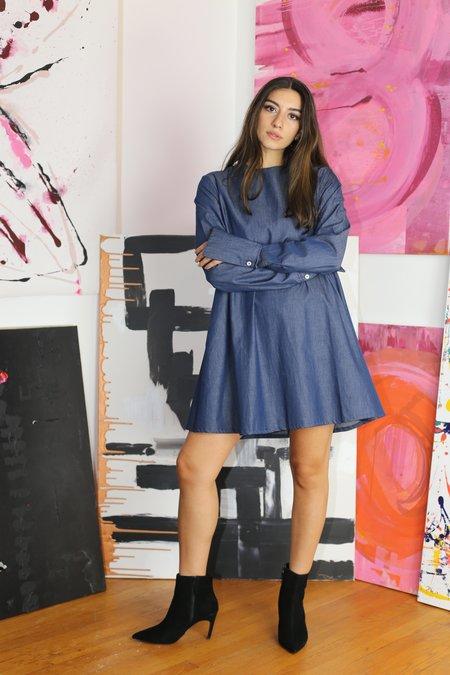 Toit Volant Thalassa Dress - Mid Indigo
