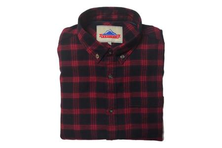 Penfield Corey Brushed Cotton Check Shirt - Red