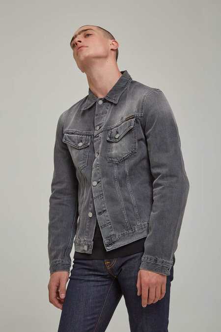 nudie Billy Shimmering Shist Grey Jacket