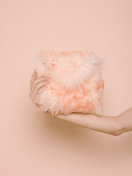Audrey Louise Reynolds Fur Clutch - Pinks