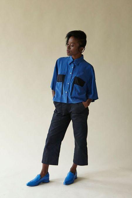 Megan Huntz Sanni Top -  Blue/Black