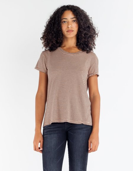Lacausa Sawyer Tee in Rosewood Stripe