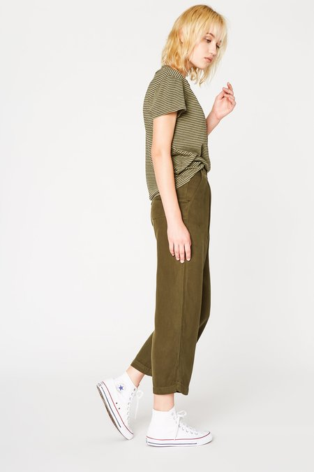 Lacausa Clothing Isabelle Trousers in Basil