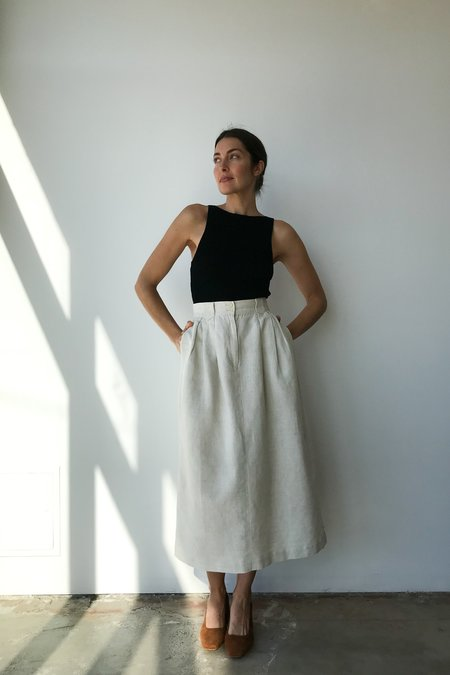Mixed Business Vintage Heavyweight Linen Skirt