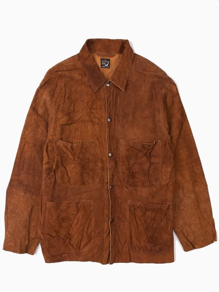 Orslow Utility Coverall Brown Leather