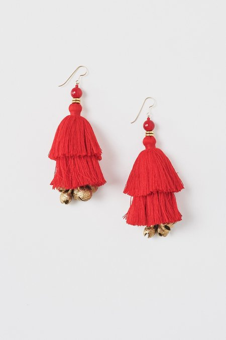 Ora-C Show Earrings - Red