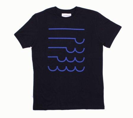 Loreak Mendian Olatuak T-Shirt - Navy
